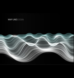 wavy lines abstract banner design template vector image