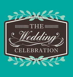 Wedding celebration image vector
