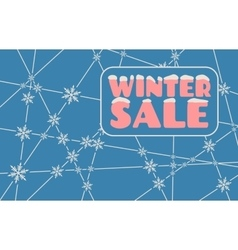 Winter sale inscription with snowflakes vector image