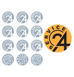24-hour service logo vector image vector image