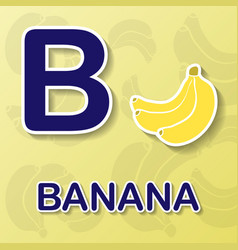 banana alphabet background vector image