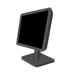 computer monitor icon in monochrome style isolated vector image vector image