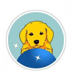 cute dog vector image vector image