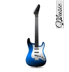 Electric guitar isolated vector image vector image