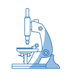 microscope equipment discovery analyzing science vector image