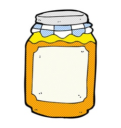 comic cartoon jar of marmalade vector image