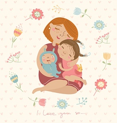 family love vector image vector image