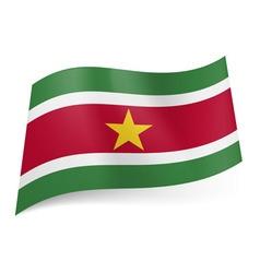 Flags icon Suriname 01 vector image vector image