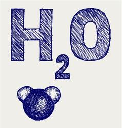 H2O vector image vector image