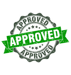 approved stamp sign seal vector image vector image