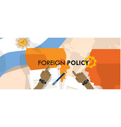 argentina us foreign policy diplomacy vector image vector image
