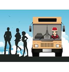 Bus driver vector