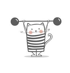 Cute circus cat vector image vector image