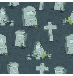 Halloween tombs seamless pattern vector image