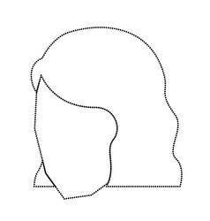 woman head faceless with short hairstyle vector image