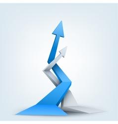 Abstract 3d arrows logo vector image