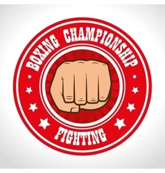 boxing championship punch isolated vector image vector image