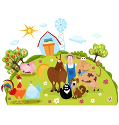 Farm cartoon vector image vector image