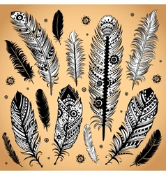 Fashion ethnic feather vector image vector image