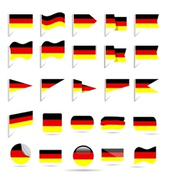 flags of Germany vector image vector image