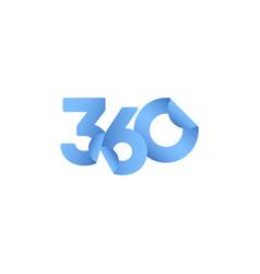 360 paper number label tag template design vector