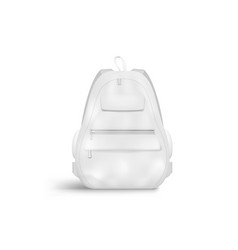3d blank white closed backpack with zipper vector image