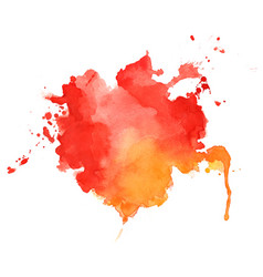 Abstract red and orange watercolor texture vector
