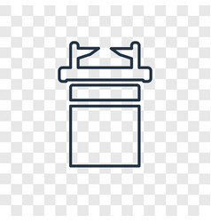 Ark of the convenant concept linear icon isolated vector