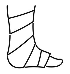 Bandage foot icon outline style vector
