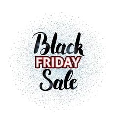 Black Friday Sale Lettering over Silver vector image