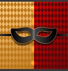 Black mask on carnival background vector