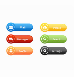 Call to action buttons set design vector