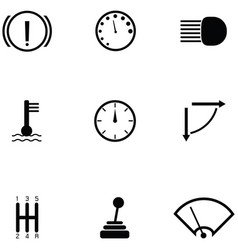 car indicator icon set vector image