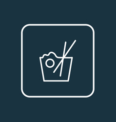 chinese food icon line symbol premium quality vector image