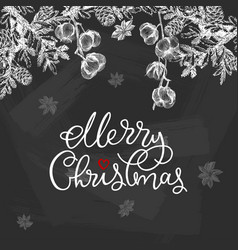 christmas design with conifers vector image