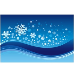 christmas wave background vector image