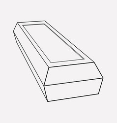 coffin icon line element of vector image