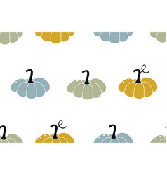colourful pumpkins seasonal autumn seamless vector image