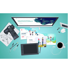 creative workspace concept vector image