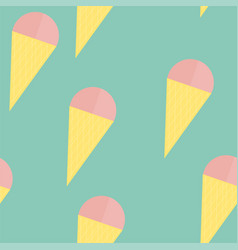cute ice cream seamless vector image