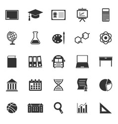 Education icons on white background vector