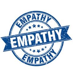 Empathy round grunge ribbon stamp vector