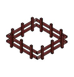 farm fence isometric icon vector image