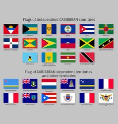 Flags caribbean countries vector