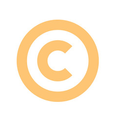 Flat icon copyright symbol or sign vector