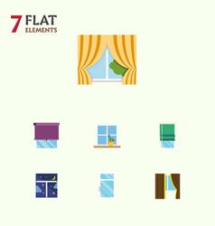 flat icon frame set of flowerpot glass frame vector image