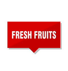 fresh fruits red tag vector image