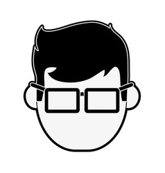 Geek man cartoon vector