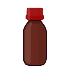 glass bottle medicine cosmetic chemistry vector image