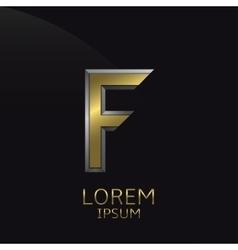 Golden F Letter emblem vector